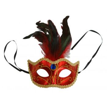 Maska karnawałowa CZERWONA...