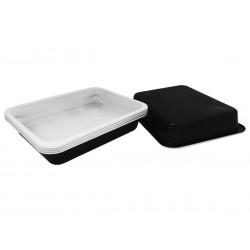 Pojemnik cateringowy    227x178x40 czarno-biały