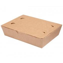 LUNCH BOX 20x14x5cm karton biało-brązowy
