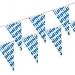 Wimpelkette Folie 10 m Bayrisch Blau wetterfest 82
