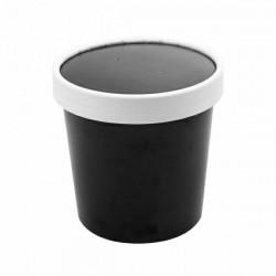 Pojemnik papierowy 360 ml do zupy czarny
