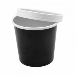 Pojemnik papierowy 780 ml zupa czarny komplet