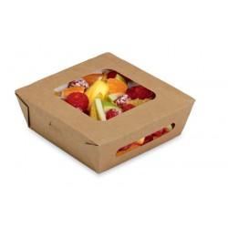 Pudełko papierowe 480 ml do sałatek brązowe