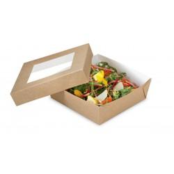 Pudełko papierowe  400 ml do sałatek  TAKEAWAY  z oknem,