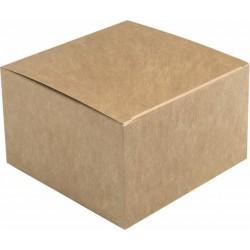 Pudełko BURGER zamykane  XL brązowe