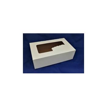 Pudełko 25x15x8 biało/brąz...