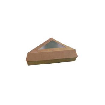 Pudełko brązowe trójkątne z...