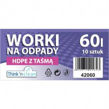 Worki na odpady HDPE 60l z...