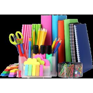 Biurowe artykuły. W ofercie sklepu zapakowania długopisy, zakreślacie, zeszyty, teczki biurowe.