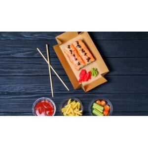 Pojemniki na sushi. Opakowania na sushi. Pojemniki na sushi na wynos. Pojemniki do sushi na wynos. Tacki z trzciny cukrowej. Pałeczki do sushi. Opakowania jednorazowe. Opakowania do sushi warszawa. Opakowania do sushi tanio. Zapakowania.