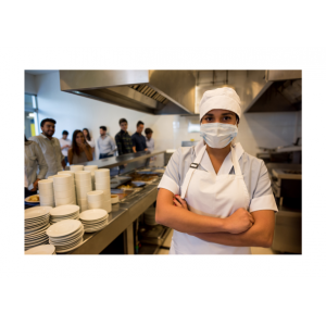 Fartuchy ochronne do gastronomii. Zapakowania. Fartuchy jednorazowe ochronne. Fartuchy foliowe.